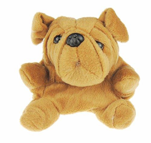 Super Nette Mädchen-Jungen-jugendlich Frauen weicher flaumiger Plüsch-weicher Tieränderungs-Geldbeutel-brauner Hund