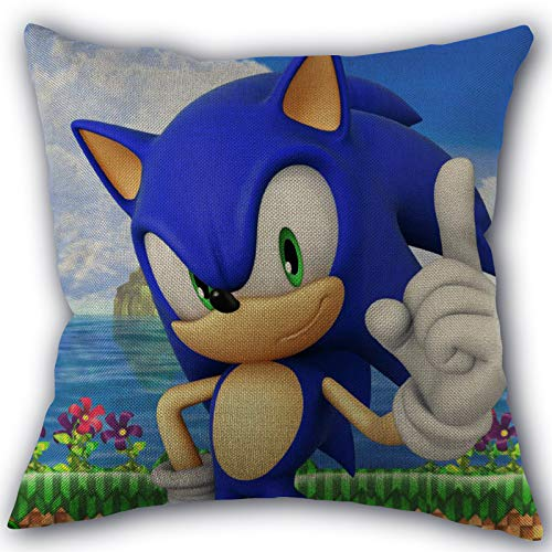 FENGHU Kissen Sonic Sonic The Hedgehog Kissenbezug Home Textile Baumwolle Leinen Stoff Einseitige Dekoration Kissenbezüge