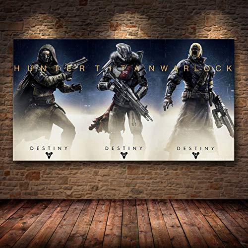 PHhomedecor Sin Marco Cuadros 50X70Cm - Destiny 2 Videojuego Wall Art Canvas Poster HD Imprimir Imagen Sala De Estar Decoración del Hogar Mural,Wkh-869