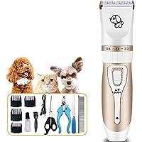 ペットバリカン 低ノイズペットクリッパー充電式コードレス犬バリカンペットバリカン猫犬毛シェーバー コードレス充電式アニマルシェーバー (色 : Gold, Size : ONE SIZE)