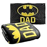 Batman Bat Dad Silky Touch Super Soft Throw Blanket 36' x 58',Bat Dad