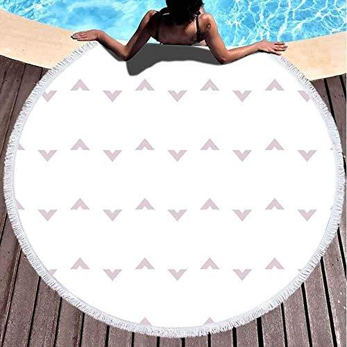 Toallas de playa redondas para niños, textura abstracta de fondo en estilo geométrico ornamental, 152 x 152 cm, toalla de playa grande redonda para niños, mujeres y niños