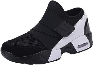 Uomo Donna Air Scarpe da Ginnastica Corsa con Zeppa Sportive Offerta Fitness Running Sneakers Basse Casual All'Aperto Nero...