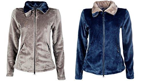HKM Damen Fleecejacke-Soft-2900 Fleece-Jacke, Taupe, XS