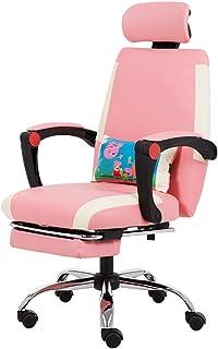 Silla de escritorio rosa silla de computadora para mujer silla de trabajo de estudio sala de estar taburete dormitorio silla de maquillaje hermosa silla (color: rosa, tamaño: 64 cm * 64 cm * 114