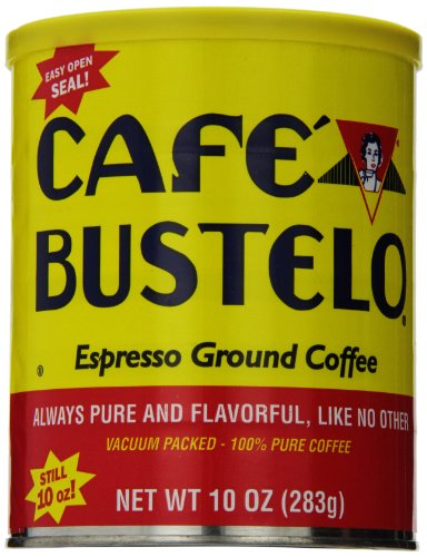 Cafe Bustelo Ground Coffee Can, Supreme Espresso Style, 10 Ounce