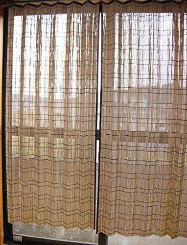 すだれカーテン竹皮2枚組約W100×H170㎝竹すだれカーテン日除けすだれ天然素材