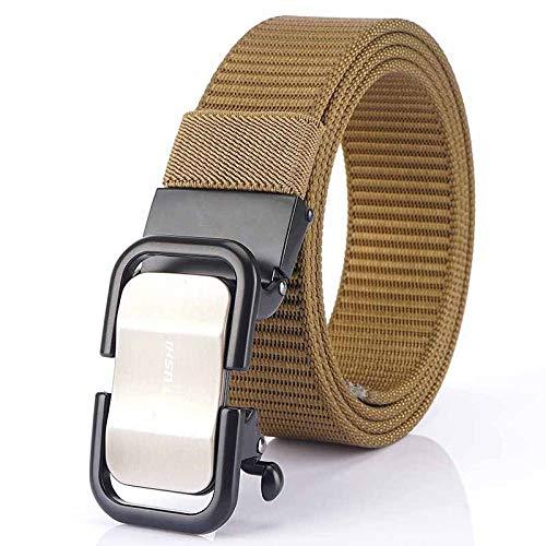 Xme Cinturón casual para estudiantes jóvenes, cinturón de lona con hebilla automática para...