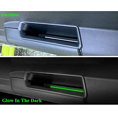 Luixxuer for Suzuki Jimny 2019 2020 Accessories Front Row Door Side Storage Box Handle Pocket Armrest Phone Container Black, 2pcs Armrest Container