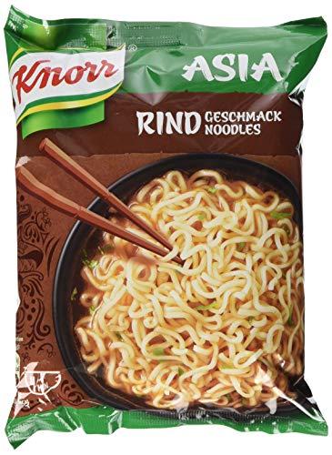 Knorr Noodle Express Asia Rind Geschmack Instant Nudeln 1 Portion, 11er-Pack