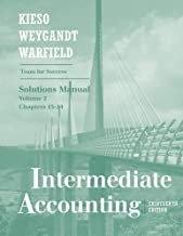 Intermediate Accounting (Solutions Manual, Volume 2 Chapters 15-24)