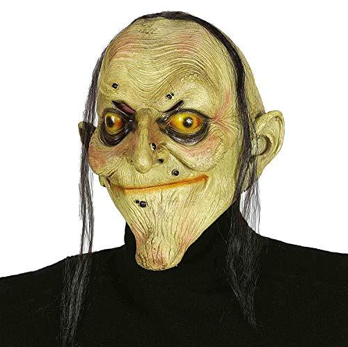 Guirca- Maschera Strega Halloween Carnevale Befana Anziana, Colore Verde, 2393