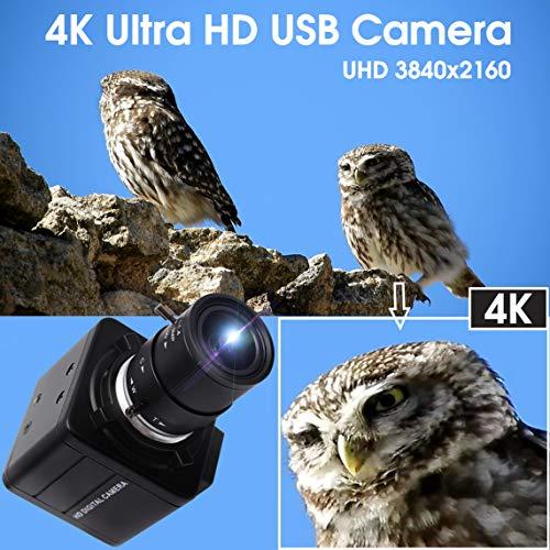 4K Ultra HD Webcam 2.8-12mm Varifokalobjektiv USB Mini-Webkamera 3840x2160@30fps Optischer Zoom USB mit Kamera IMX317 Sensor Kamera, USB UVC Konferenz Webcam für Mac/Window/Linux