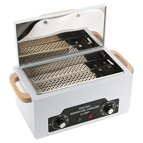 Heat St-erilizer-kast, 200 ℃ Opbergdoos voor hoge temperaturen, 300W Manicure Pedicure SPA Salonuitrusting voor schoonheidsspijker Metaalgereedschap(EU-stekker)