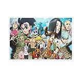 LINHUI Póster de Siete Pecados Capitales Carácter Anime Portada de Lienzo y Arte de la Pared Impresión Moderna Decoración de Dormitorio Familiar Posters 30 × 45 cm