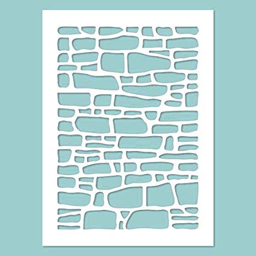 Schablone - Stone wall. Schablone, Stencil