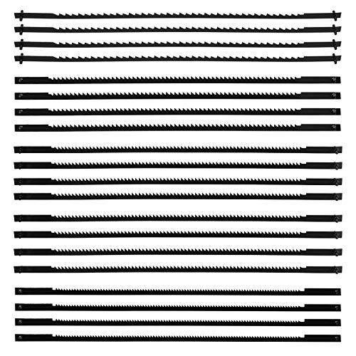 ZITFRI 20 Stück Dekupiersägeblatt 127mm Feinschnitt-Sägeblätter mit Querstift 10/15/18/24 Zähne - Laubsägeblätter für die Holzbearbeitung Holz Schaum Kunststoff