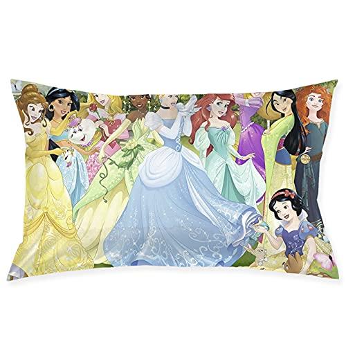 Disney Princess - Fundas de almohada decorativas para sofá, coche, dormitorio, 50 x 76 cm