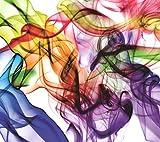 AG Design Bunter fließender Rauch, Gardinen für Wohnzimmer, Küche, Schlafzimmer, Gartenhaus, 180 x 160 cm, 2 Teile, FCS XL 4821, Mehrfarbig