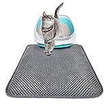TeenTop Pet Kitten Cat Bed Mats Litter Box Nest Cage Double Splash Cat Litter Pad Litter Mat Blackhole Cat Litter Mat Large Size Rectangular Waterproof for Small Large Cat
