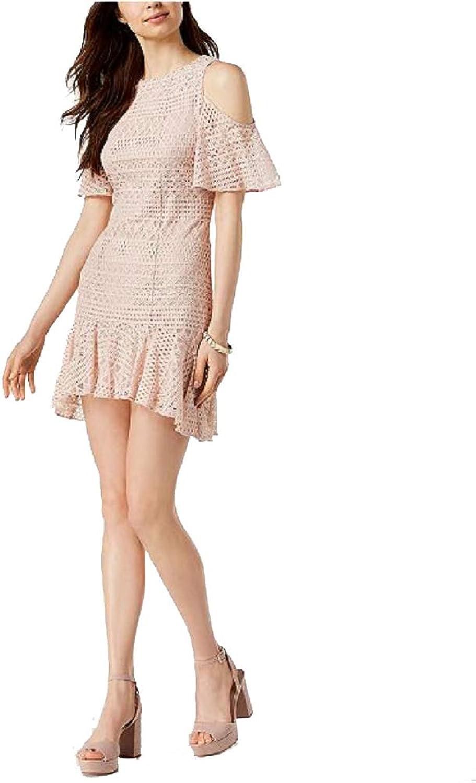 Julia Jordan Womens Lace ColdShoulder Party Dress