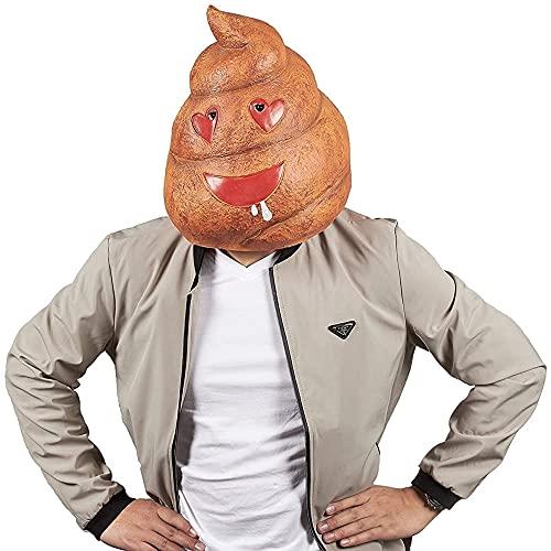 Poop Emoji Head Mask - Poop Mask for Halloween Costume, Photo Booth...