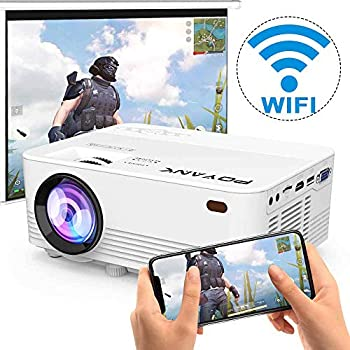 WiFi Projector POYAN K 6500Lumens WiFi Projector Full HD 1080P Supported Mini Projector Compatible with TV Stick/Phones/Tablet/PS4/TV Box/HDMI/USB/AV Projector for Outdoor Movies [2021 Upgrade]