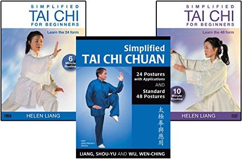 Bundle: Simplified Tai Chi for Beginners 2-DVD set and book (YMAA) Liang, Shou-Yu and Helen Liang