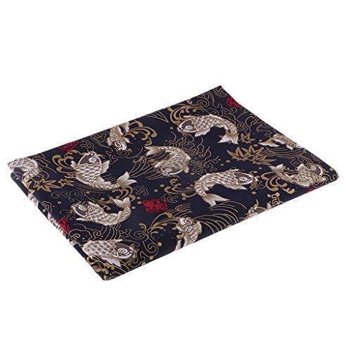 oshhni Carpa Bronceadora Y Tela de Algodón Floral para Material de Costura de Patchwork - 1 Metro, Individual