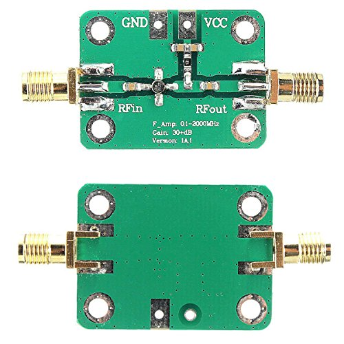 0,1-2000 MHz RF Breitband-Verstärker 30 dB High Gain Low Noise LNA Verstärker AMP Modul DC 6-12 V