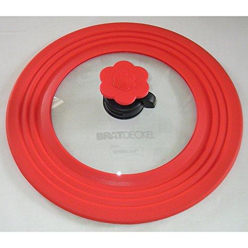 Kochblume Bratdeckel mittel D.30cm rot für Durchmesser 22-28 cm