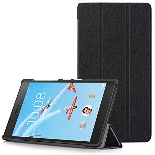 Lenovo Tab 7 Essential Case - Ultra Slim Lightweight Smart Shell Stand Cover for Lenovo Tab 7 Essential 7-Inch Android Tablet 2017 Release, Black (NOT Fit Lenovo Tab3 7 Essential)