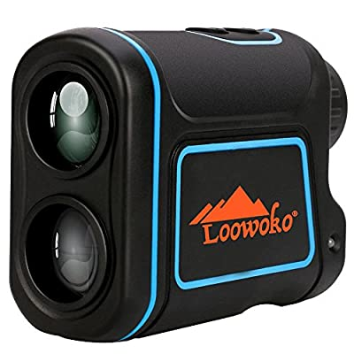 656 Yards Telescope Rangefinder, Portable Handheld Rechargeable Binoculars Laser Rangefinder for Golfing Hunting Racing from Loowoko