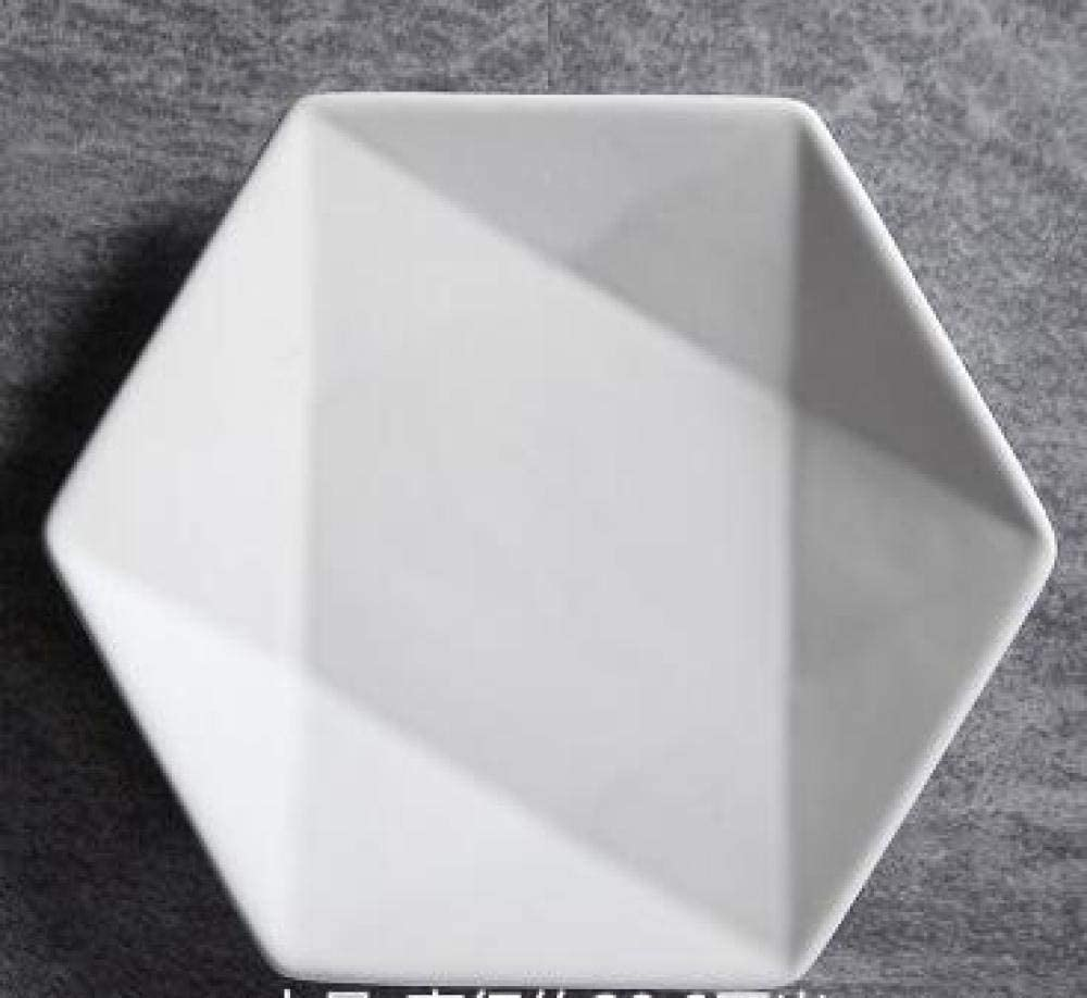 Finally popular brand MZXUN Solid Color Hexagon Ceramic Plate Cake Pl Ranking TOP20 Dessert for Dish
