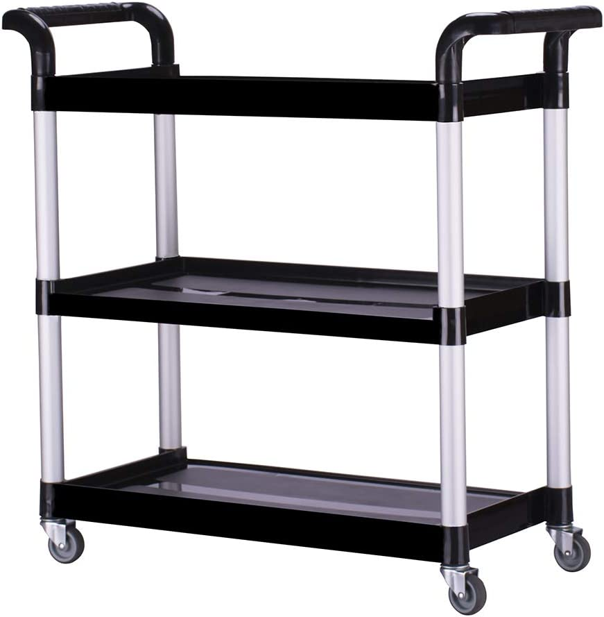 Kitchen Manufacturer OFFicial shop Limited time for free shipping Serving Bar Cart Utility Locking Push with Casters