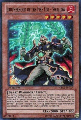 YU-GI-OH! - Brotherhood of The Fire Fist - Swallow (CBLZ-EN027) - Cosmo Blazer - 1st Edition - Super Rare