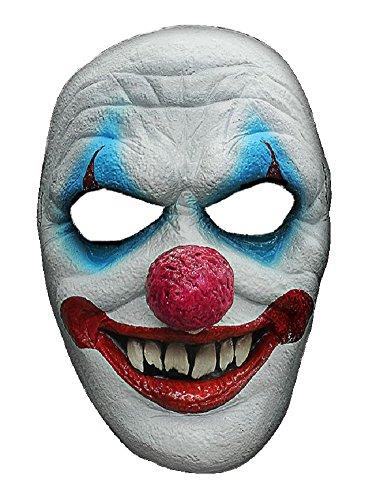Halloween Karneval Party Kostüm Horror Grusel Maske Clown des Grauens aus Latex Clownmaske für Erwachsene Fasching Halbmaske