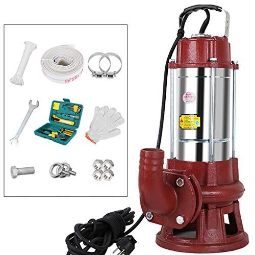 DS- Tauchpumpe Schneiden Abwasserpumpe 220V Haushalt Tauchpumpe große Strömung Abwasserpumpe Schlammpumpe Pumpen Klärgrube Gülle Biogas Tank ohne Verstopfung (größe : 2200W)