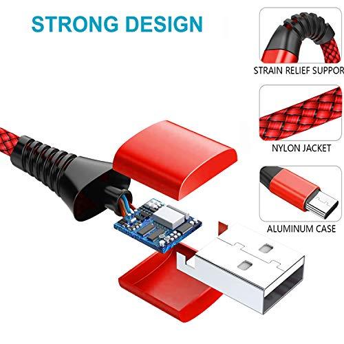 USB C Kabel,[2 Stück 2M] Nylon USB C Ladekabel Fast Charge 3A Schnellladekabel Typ C Ladekabel für Samsung Galaxy A51 A50 A41 A40 A71 A70 A20 A20e A21s S8 S9 S10 S20,Huawei P40 P30 P20 P10,Sony Xperia