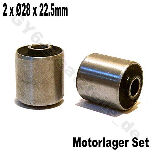 MOTOR SILENT LAGER/MOTORLAGER BUCHSEN/GUMMIBUCHSEN * Ø 28 x 22.5mm * 1 PAAR * 50-150cc z.B. BAOTIAN BENZHOU YIYING REX RS AGM KYMCO FOSTI ZNEN HYOSUNG KREIDLER FLEX TECH ERING RETRO CHINA ROLLER