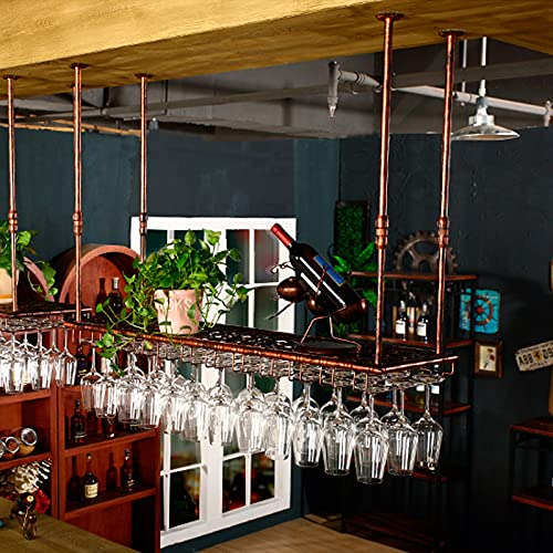 botellero Vino Botellero para Vinos Colgante, Soporte para Almacenamiento de Copas de Vino, Estante Creativo para Almacenamiento de Copas de Vino (Color : B, Size : 120 * 35CM)