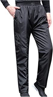 Houshelp Men's Outdoor Lightweight Hiking Climbing Tactical Cargo Pants Outdoor Fleece-Lined Thermal Athletic Trousers