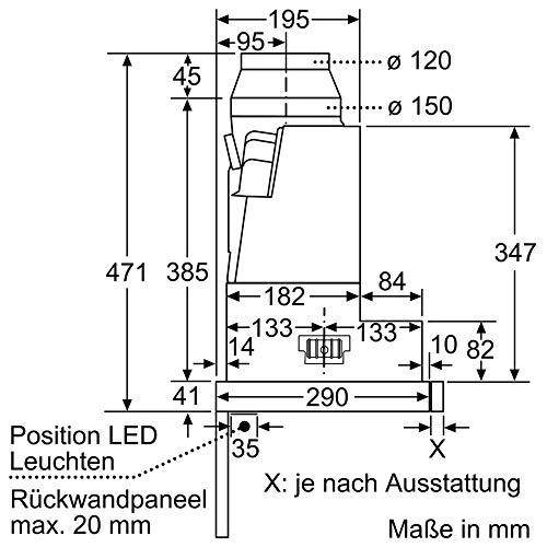 Bosch DFR067A50 Serie 4 Flachschirmhaube - 9