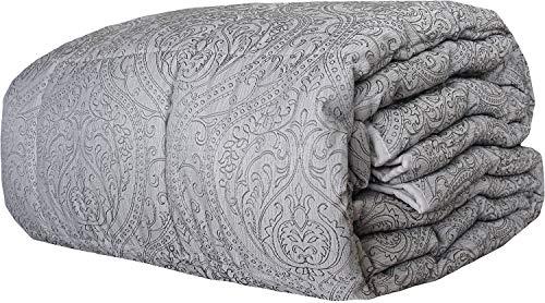 Couette d'hiver matelassée Lura Biagiotti pour lit double 2 places 260 x 270 cm différents modèles (Savona Gris)