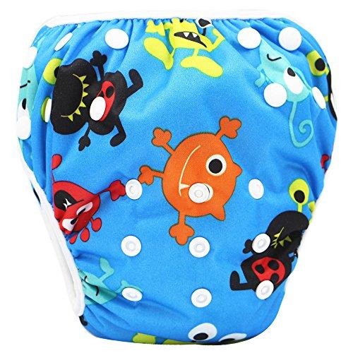 Storeofbaby Pañal de baño para bebé recién nacido troncos cortos ajustables reutilizables
