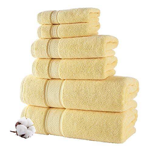 NOVA Luxury Linen - Hotel Quality Turkish Towel Set for Bathroom | 2 Bath Towels, 2 Hand Towels, 2 Washcloths