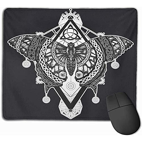 Gaming Mouse Pad, Maus Matte Flügel Schmetterling Tattoo Celtic Mystical Symbol der Freiheit Natur Tourismus Schön