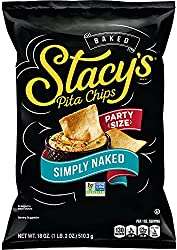 Stacy's Pita Chips Stacys Pita Chips, Simply Naked, 18 Ounce Party Size! Bag