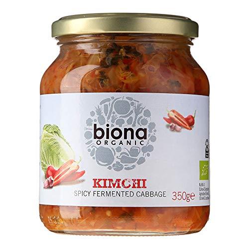 Biona Kimchi Ecológico Verduras Frescas Fermentadas - Paleo, Vegano, Vegetariano - Paquete 6 X 350 G