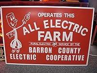 ALL ELECTRIC FARM MDFサインボード / 看板
